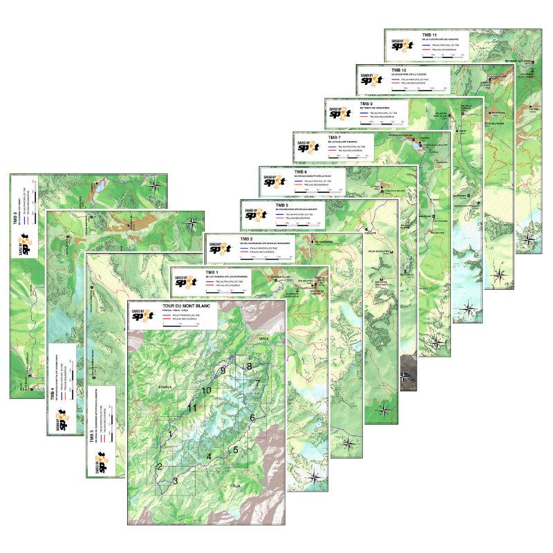 Mapas Tour du Mont Blanc