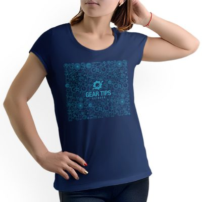 Camisa Feminina - Equipamentos de Bike - Azul