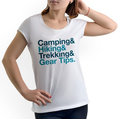 Camisa Feminina - Camping, Hiking, Trekking - Branca