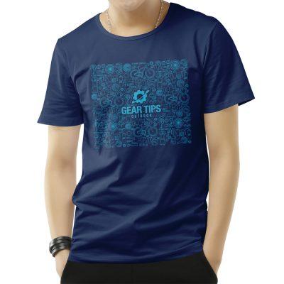 Camisa Masculina Equipamentos para Bike - Azul