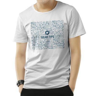 Camisa Masculina - Equipamentos Trekking - Branca