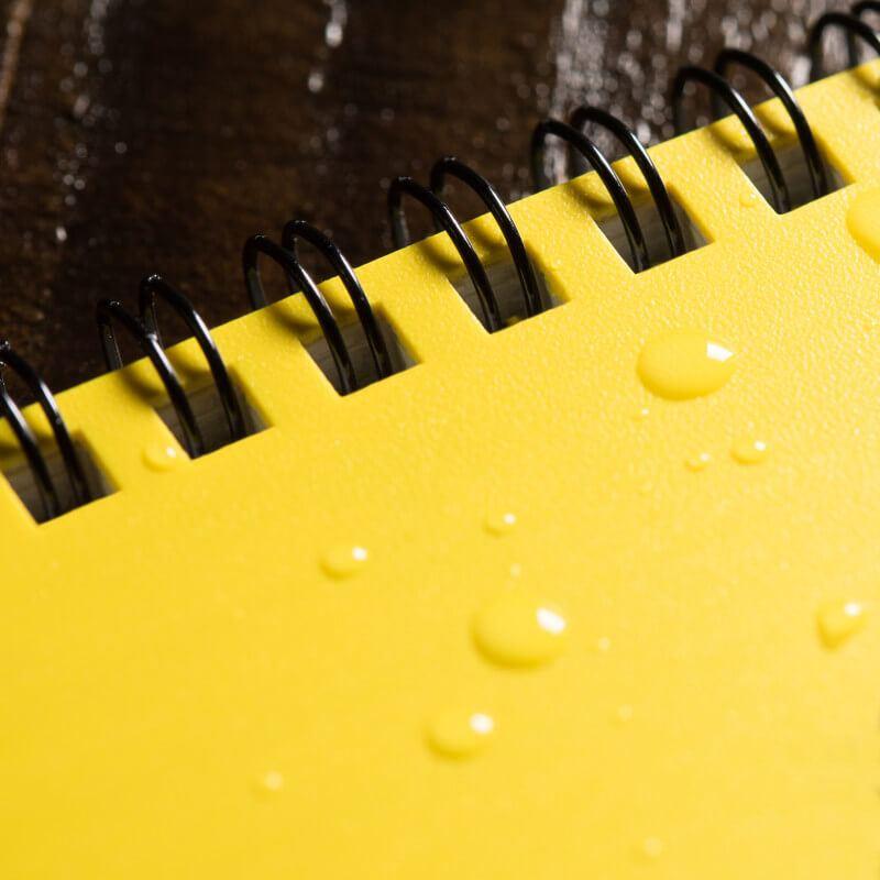 Bloco de anotações a prova d'água
