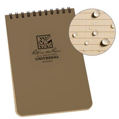 Caderneta impermeável Rite In The Rain Espiral 4x6 polegadas